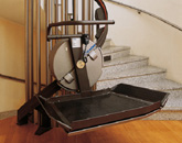Curved Platform Stairlift